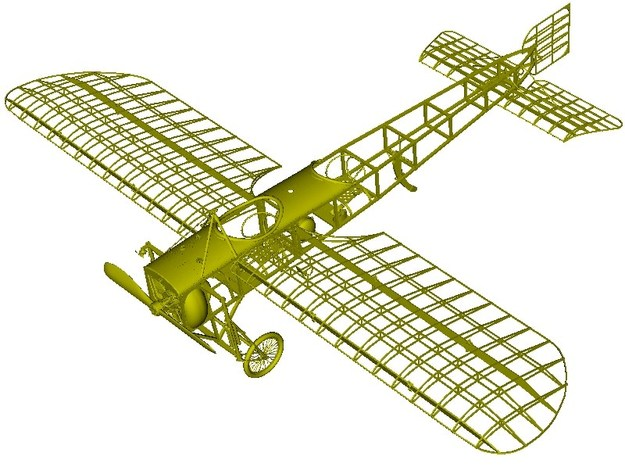1/18 scale Bleriot XI-2 WWI model kit #2 of 3 in Smooth Fine Detail Plastic