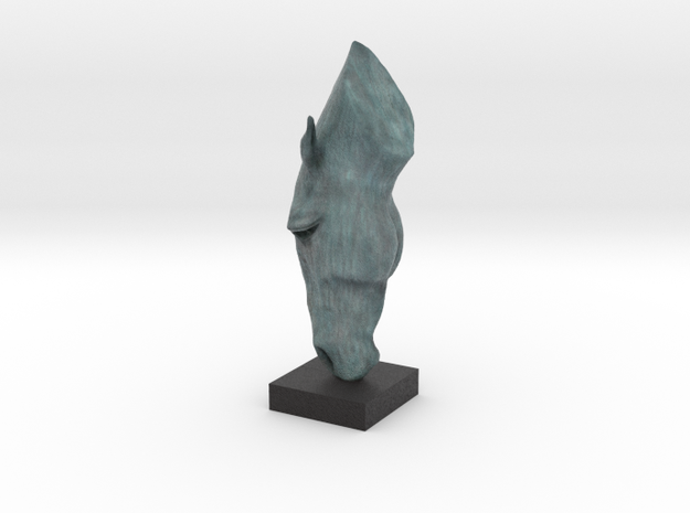 MARWARI HORSE HEAD Remastered Digital Sculpture  in Full Color Sandstone