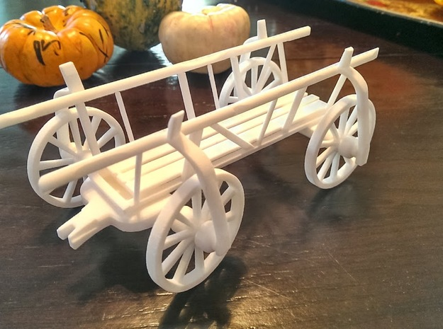 Vintage Gypsy Wagon in White Natural Versatile Plastic