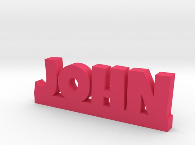 JOHN Lucky in Pink Processed Versatile Plastic