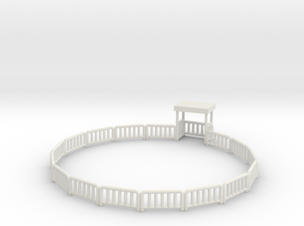 Skyfighterfence in White Natural Versatile Plastic
