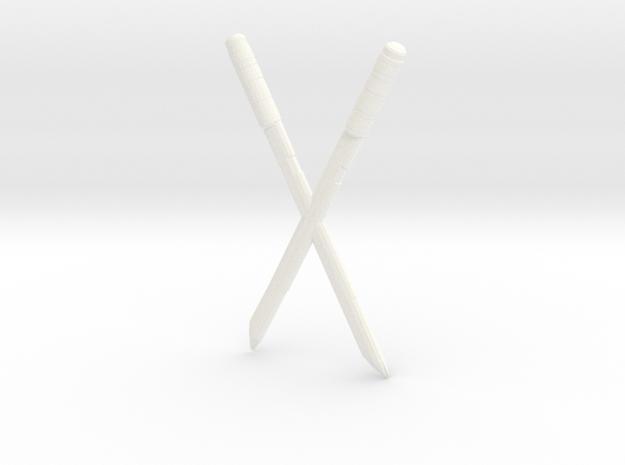 Deadpool Swords in White Processed Versatile Plastic