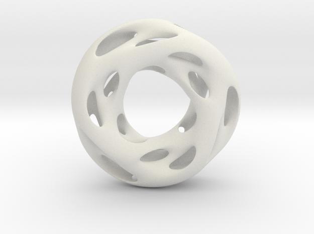 0609 IsoSurface F(x,y,z)=0 Diamond Tori [3] d=5cm in White Natural Versatile Plastic