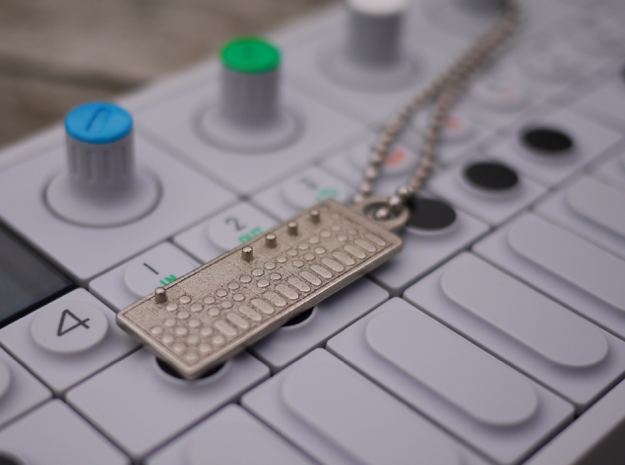 OP-1 Keychain / Pendant in Polished Nickel Steel