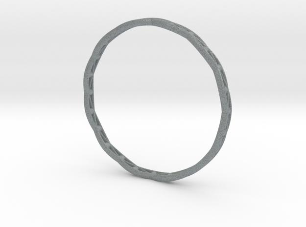 Stylish Bracelet in Metal, Sandstone and more.... in Polished Metallic Plastic: Medium
