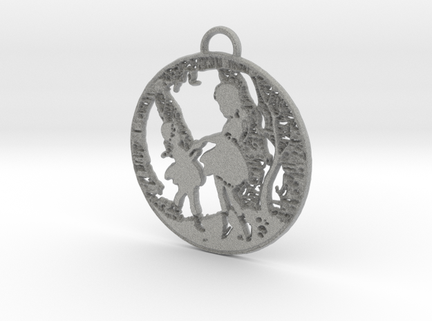 Pendant - SIlver - Girls Playing in the Garden