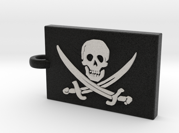 Jolly Roger (Pirate Flag) Pendant in Full Color Sandstone