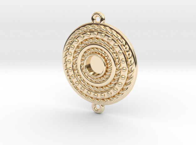 "Pendant ""Rotonde"" in 14k Gold Plated Brass"