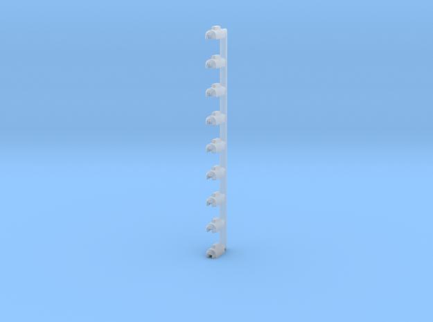H0 1:87 PKW Anh盲ngerkupplung 9er Set in Smooth Fine Detail Plastic