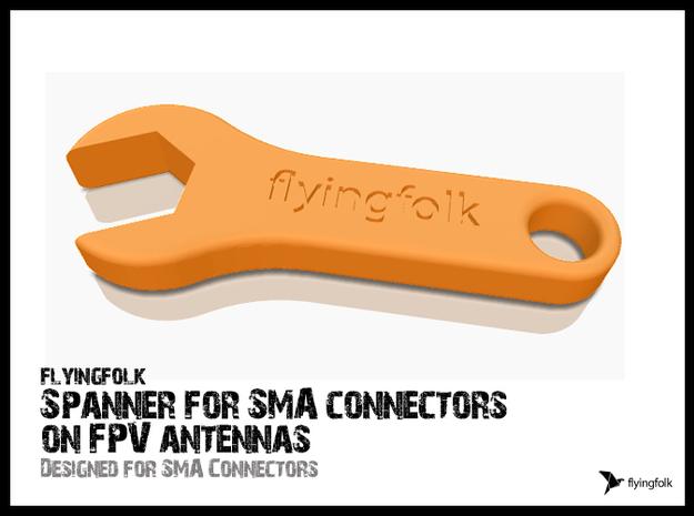 Spanner for SMA connectors on FPV antennas