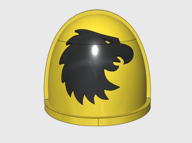 10x Warhawks - G:4a Right Shoulder in Smooth Fine Detail Plastic