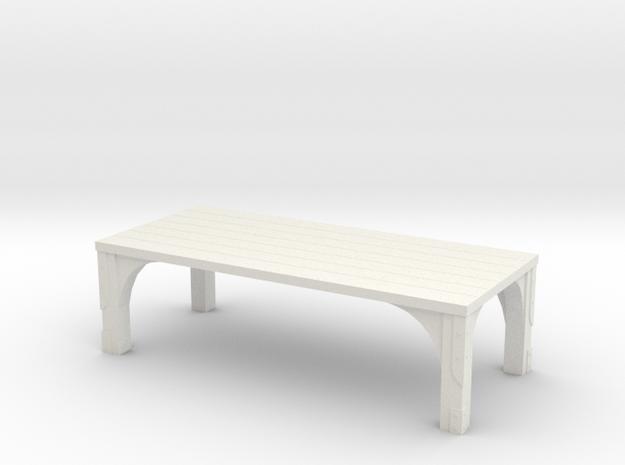 Tavern Table in White Natural Versatile Plastic