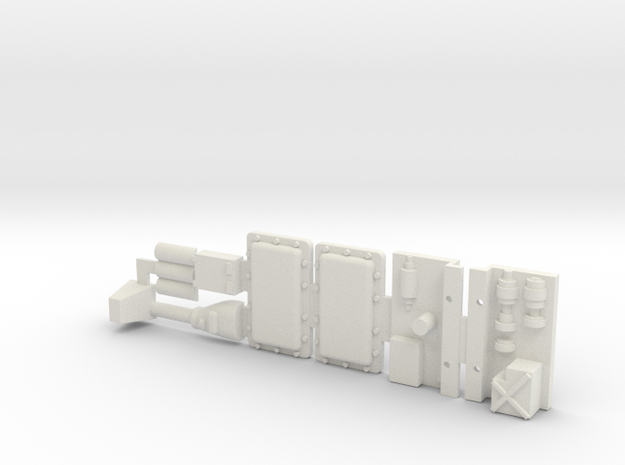 Panther G Blocks And Engine Bits for Y-Wing in White Natural Versatile Plastic