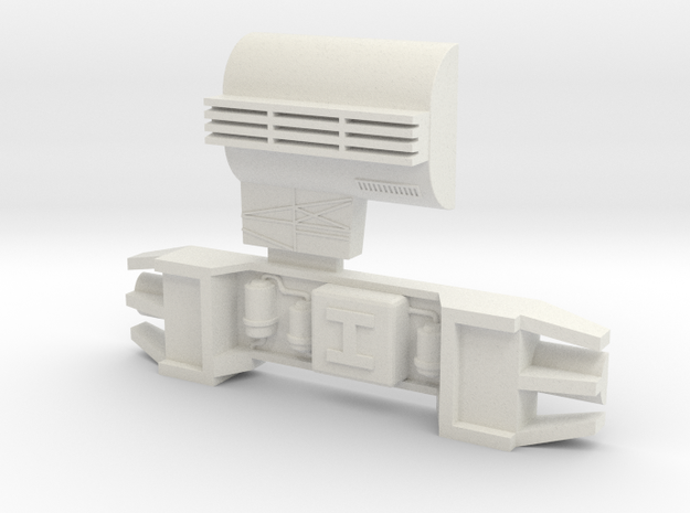 Hyuga and Howitzer Greeblies for Y-Wing in White Natural Versatile Plastic