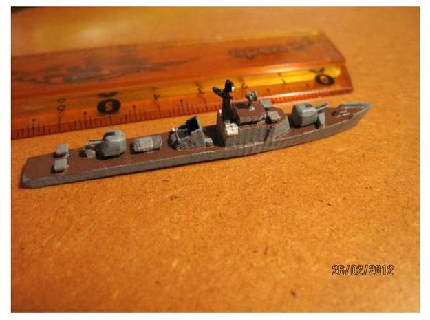 1/1250 Soviet Petya Frigate in Smooth Fine Detail Plastic