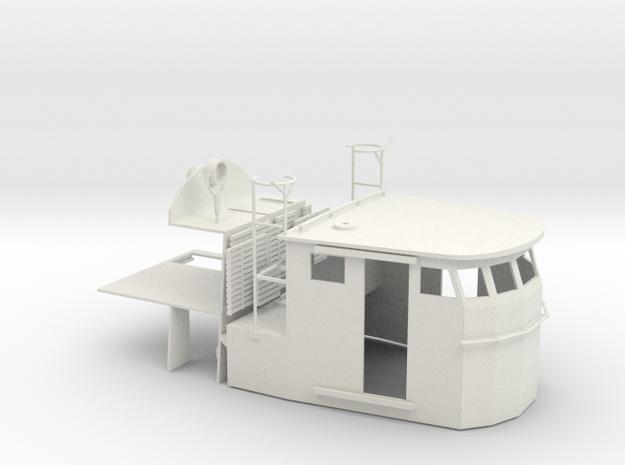 Kriegsmarine Schnellboot Steuerhaus S1 to 18 type in White Strong & Flexible