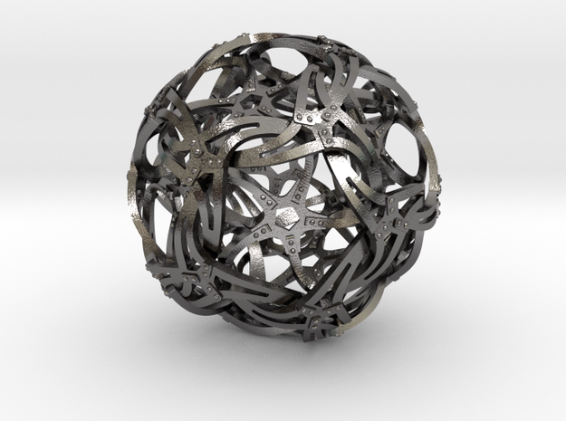 Dodecahedron Bridge Construction in Polished Nickel Steel
