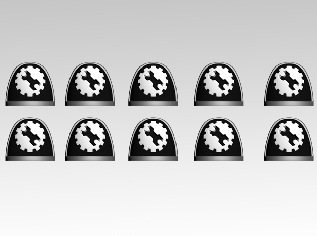 Wrench & Gear 1 V.7 Shoulder Pads x10 in Smooth Fine Detail Plastic