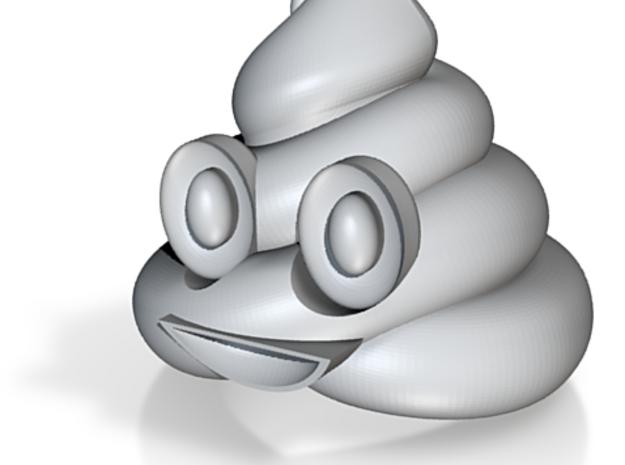 Emoticon Poop emoji 60mmWide Apple iPhone iOS 3d printed
