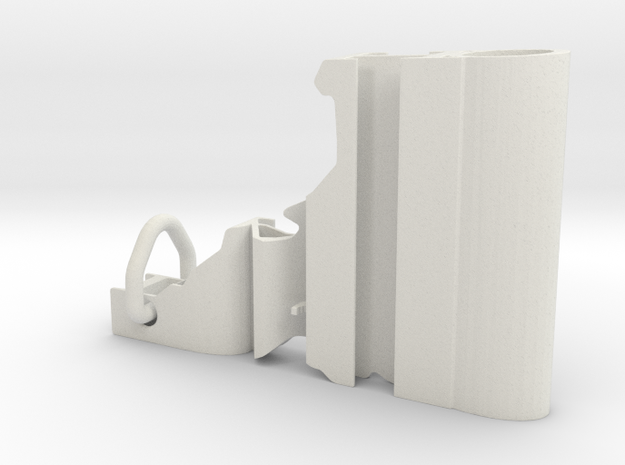 Idaho Keychain in White Natural Versatile Plastic