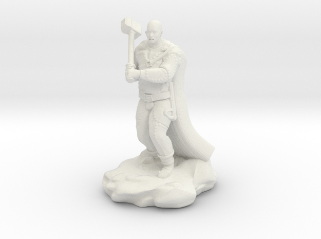Bald Half Giant With Maul in White Natural Versatile Plastic