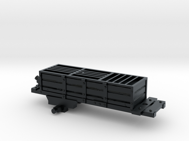 Bavarian Artillery Manson Ammunition Wagon Carriag in Black Hi-Def Acrylate