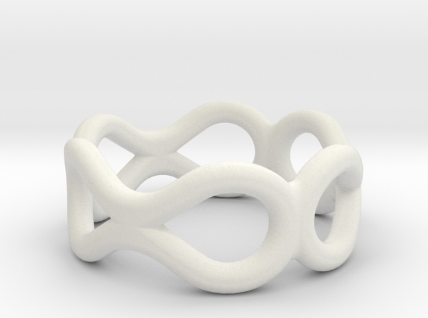 Infinity Ring in White Strong & Flexible