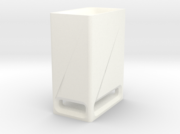 Sound Bar - Sub Box in White Strong & Flexible Polished