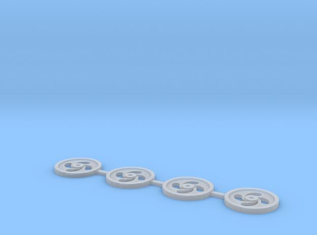 Rim insert V1 in Smooth Fine Detail Plastic