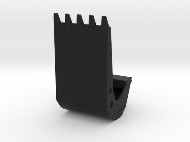 Blokkskuff in Black Natural Versatile Plastic