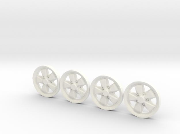 4x Tapacubos Fuchs (llanta De 19) in White Processed Versatile Plastic