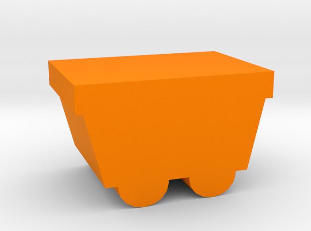 Game Piece, Mine Cart in Orange Processed Versatile Plastic