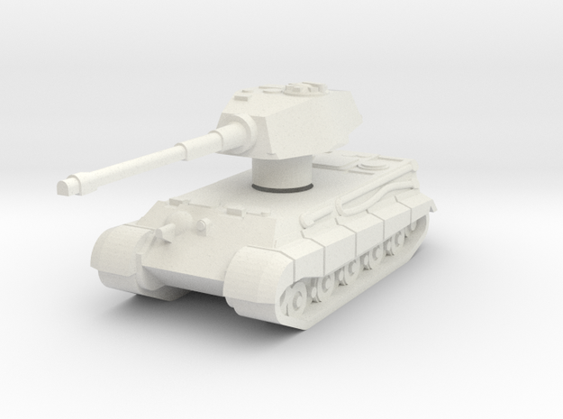 Kingtiger ausf.b Henschel with Rotatable turret in White Natural Versatile Plastic