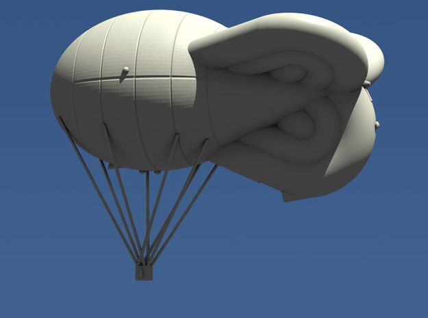 Avorio-Prassone Kite Balloon 3d printed Computer render of 1:144 Avorio-Prassone balloon