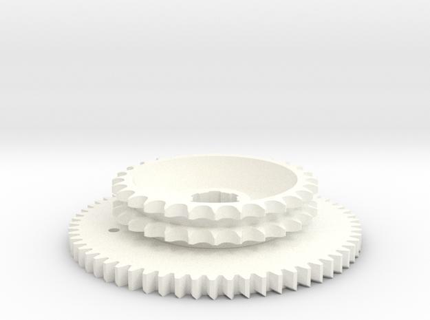 OnePieceSprocket in White Processed Versatile Plastic