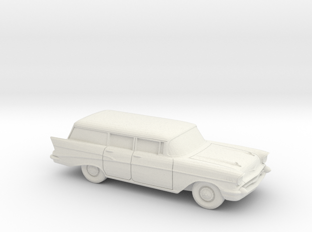 1/43 1957 Chevrolet Bel Air Station Wagon in White Natural Versatile Plastic
