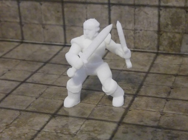 General Fighter Mini (Dual Blades) in White Strong & Flexible: 1:56