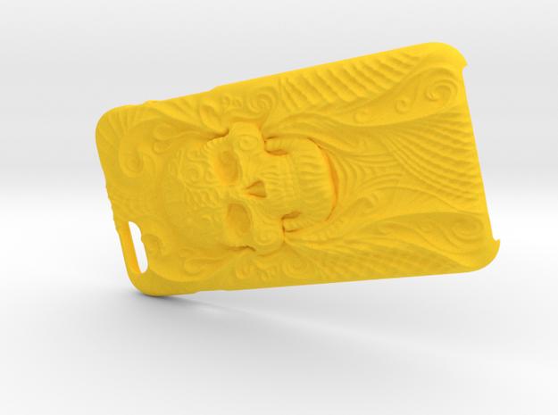 Iphone 6 skull Case  in Yellow Processed Versatile Plastic