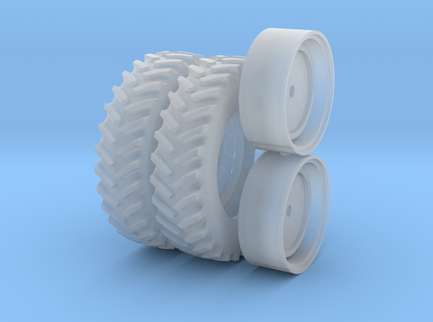 1/64 Scale 42 Inch Cast Wheel And Tire Set in Frosted Ultra Detail