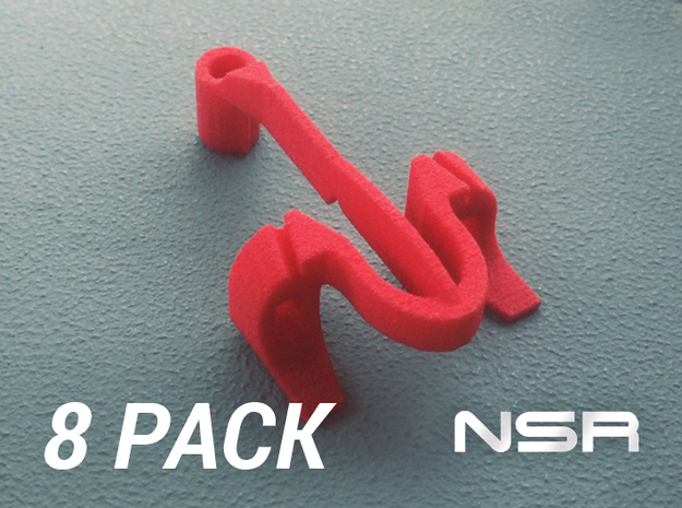 8x Pipguide NS in White Natural Versatile Plastic