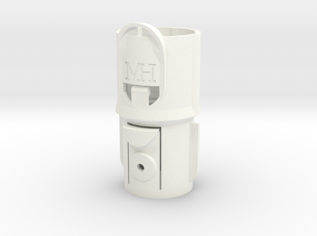 Adapter Mk IIa for Dyson V8 to pre-V8 tools in White Processed Versatile Plastic