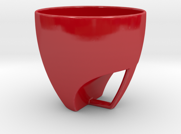 A hole in one in Gloss Red Porcelain