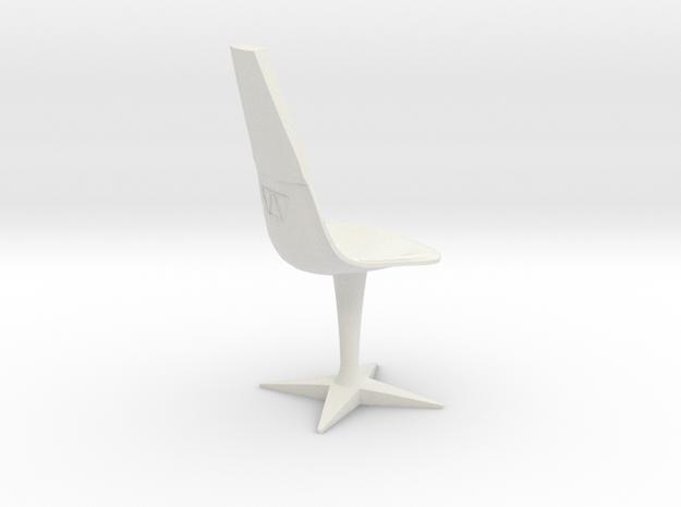 Swivel Chair (Star Trek Classic) in White Natural Versatile Plastic: 1:18