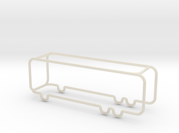 Bus scale 1-100 in White Acrylic: 1:100