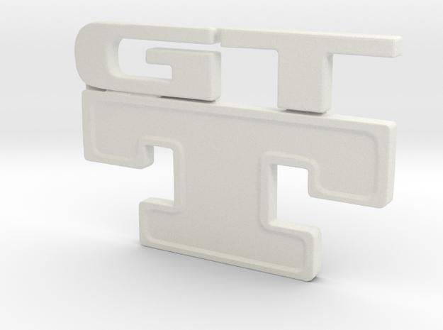 Gtt car Emblem Obj in White Strong & Flexible