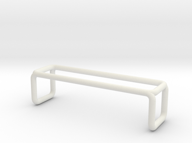 Bench 3 scale 1-100 in White Natural Versatile Plastic: 1:100
