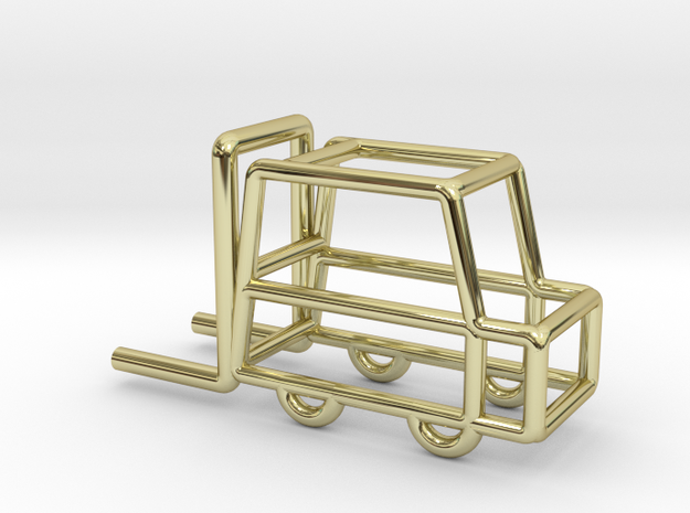 Fork-lift Truck, Pendant in 18k Gold Plated