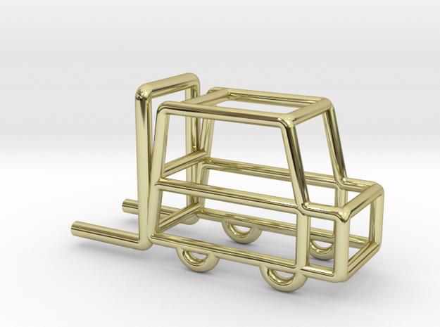 Fork-lift Truck, Pendant in 18k Gold Plated Brass