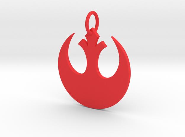 Rebellion Keychain in Red Processed Versatile Plastic