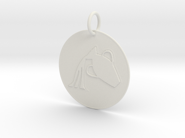 Aquarius Keychain in White Natural Versatile Plastic